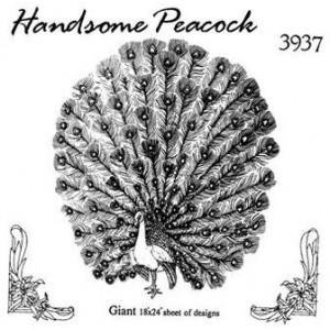 3937 Hobbyfun strijkpatroon Pauw