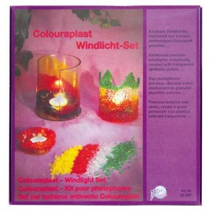 Hobbyfun Colouraplast smeltgranulaat windlicht set