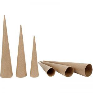 Hobbyfun Hoge kegels 20-25-30cm, set 3st.