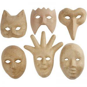 Hobbyfun Maskers, 12-21 cm, 6st.