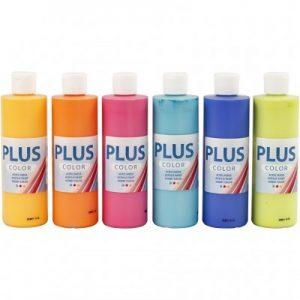 Hobbyfun Plus Color Acrylverf Kleurrijk, 6x250 ml