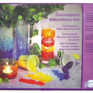 55.003 Hobbyfun Colouraplast smeltgranulaat glasdecoratie set