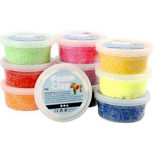 Hobbyfun Foam Clay®, basiskleuren, 10x35gr.