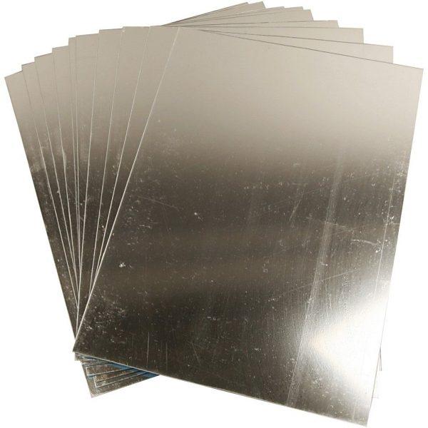 Spiegelplaat A4, zilverkleur, 10 stuks