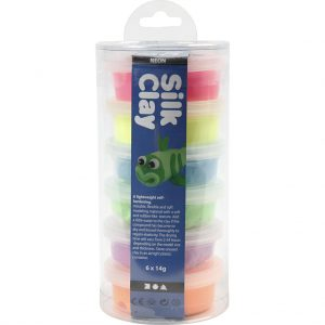 Hobbyfun Silk Clay® neon, 6x14gr.