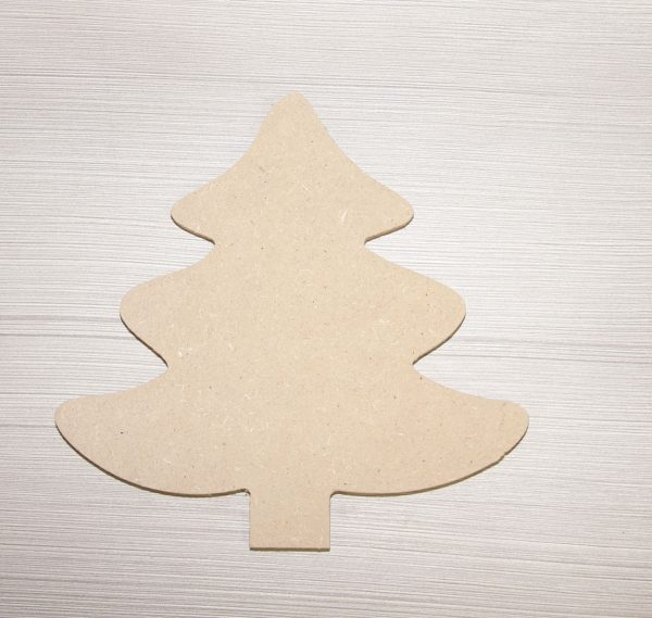 1033 Kerstboom, mdf, h: 35 cm.