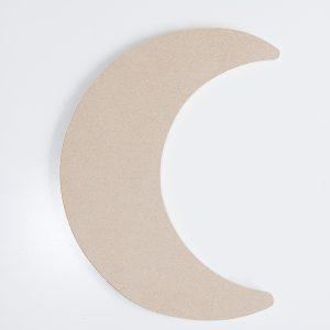 1163 Maan klein, mdf, h: 28 cm.