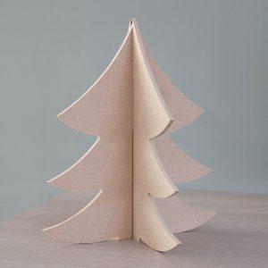 Kerstboom staand, mdf, h: 40 cm.