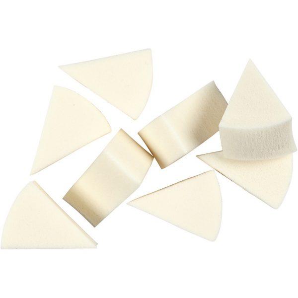Driehoek spons, 8 stuks