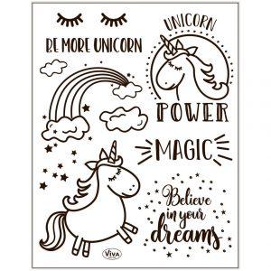 Silicone stempels Unicorn