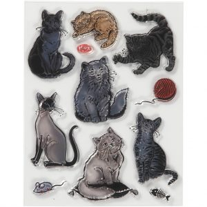 Silicone stempels Katten