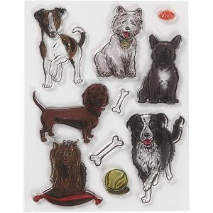 Silicone stempels Honden