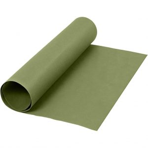 Faux Leather Papier, groen, rol 1m