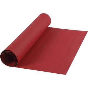Faux Leather Papier, rood, rol 1m