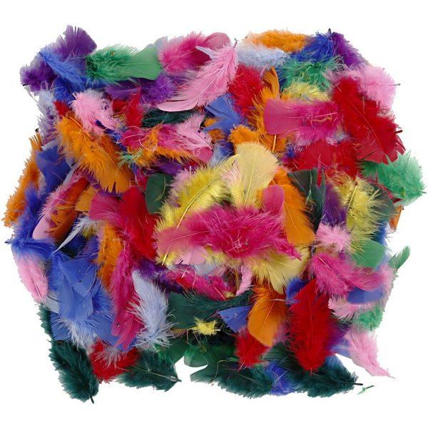 Hobbyfun Veren, 7-8 cm, kleuren-ass.10 gr.