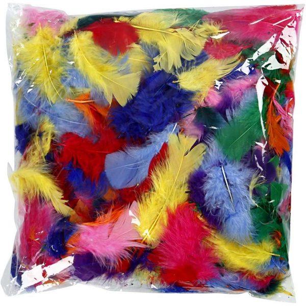 Hobbyfun Veren, 7-8 cm, kleuren-ass.10 gram