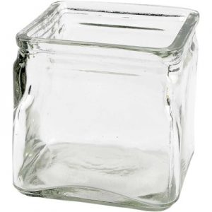 55786 Hobbyfun Vierkant glas 10x10x10 cm.