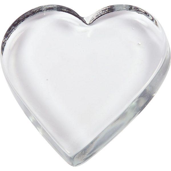 Glazen hart, groot