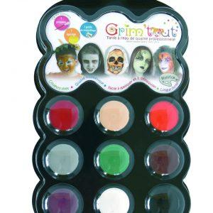 Grim'tout schminkset Halloween, 9 kleuren