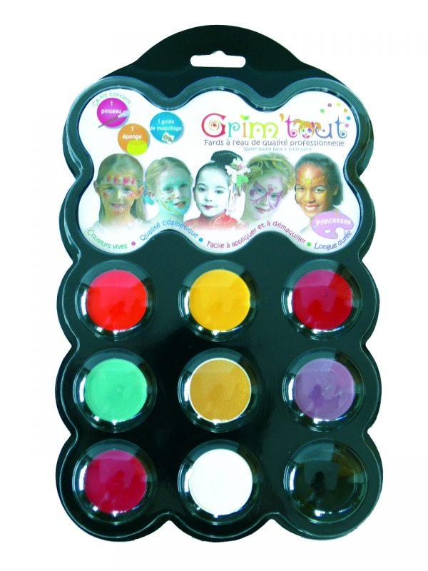 Grim'tout schminkset Prinses, 9 kleuren