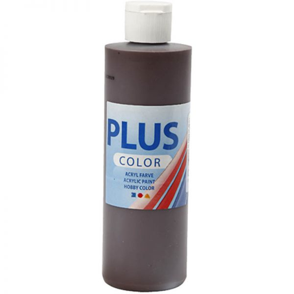 Hobbyfun Plus Color acrylverf, chocolate, 250 ml