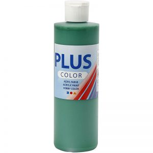 Hobbyfun Plus Color acrylverf, brilliant green, 250 ml.