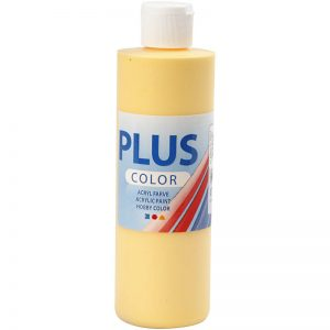 Hobbyfun Plus Color acrylverf, crocus yellow, 250 ml.