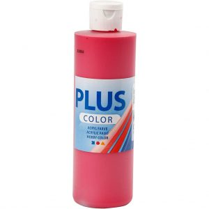 Hobbyfun Plus Color acrylverf, primary red, 250 ml