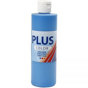 Hobbyfun Plus Color acrylverf, primary blue, 250 ml