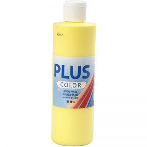 Hobbyfun Plus Color acrylverf, primary yellow, 250 ml