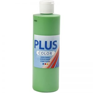 Hobbyfun Plus Color acrylverf, bright green, 250 ml.
