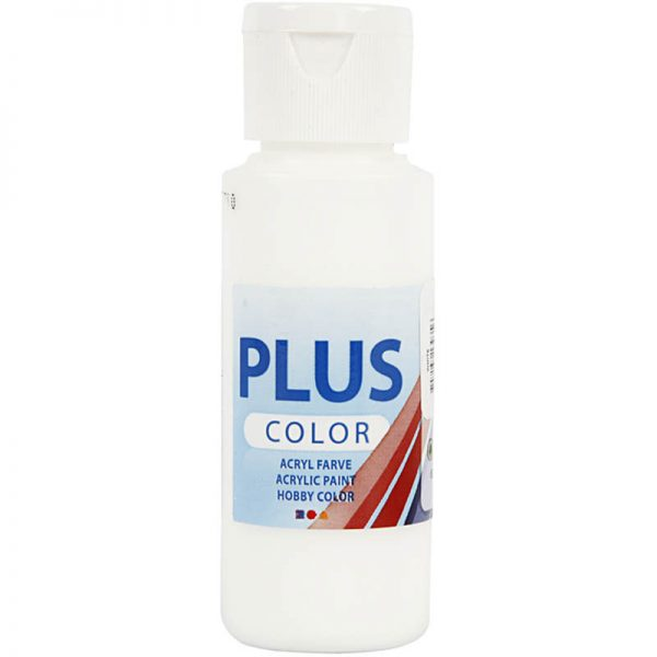 Hobbyfun Plus Color acrylverf, white, 60 ml