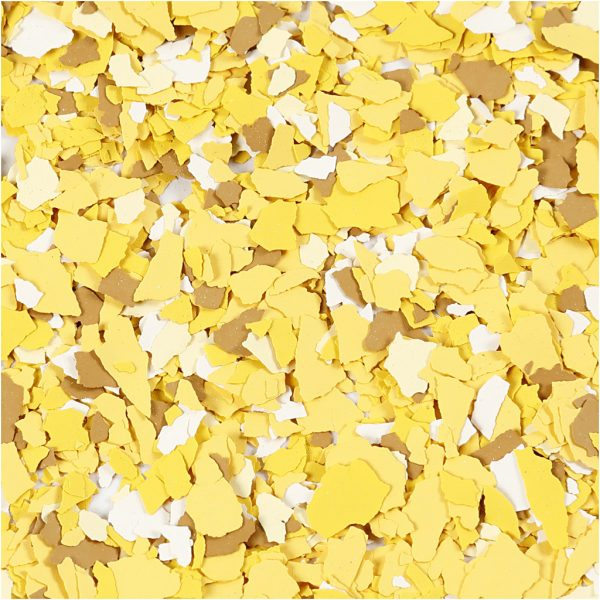 Hobbyfun Terrazzo verfvlokken, geel