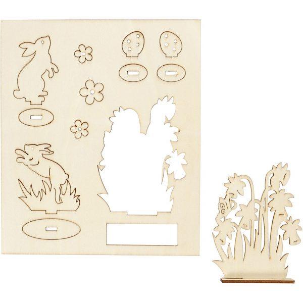 Hobbyfun DIY figuren, konijnen en bloemen