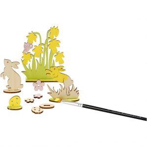 Hobbyfun DIY figuren, konijnen en bloemen.
