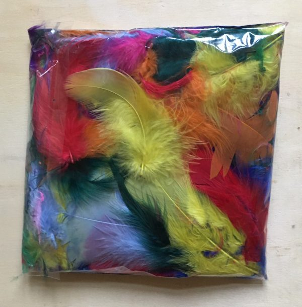 Hobbyfun veren, kleuren, 10 gr.