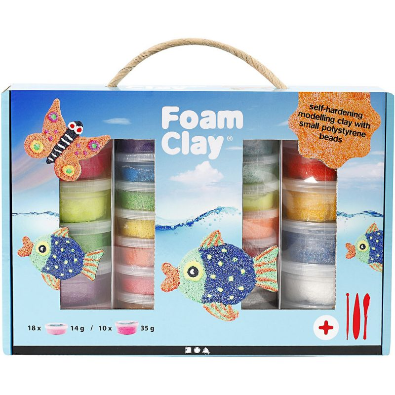 Hobbyfun Foam Clay®, voordeelpakket, 28stuks