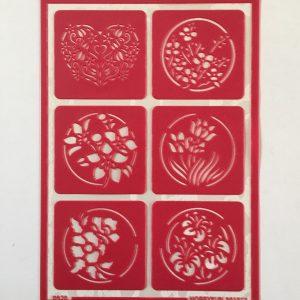Hobbyfun Zelfklevend sjabloon bloemen