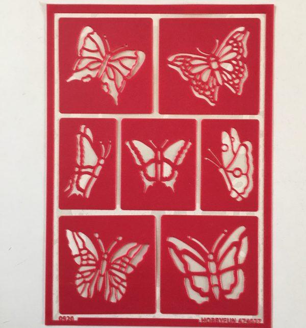 Hobbyfun Zelfklevend sjabloon vlinders