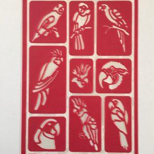 Hobbyfun Zelfklevend sjabloon papegaai