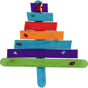 Hobbyfun IJsstokjes, gekleurd, 50st. kerstboom