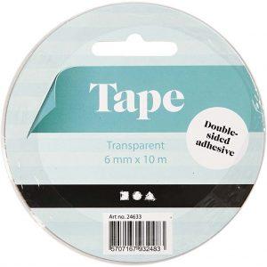 Hobbyfun Dubbelzijdigklevend tape, b:6mm, 10m