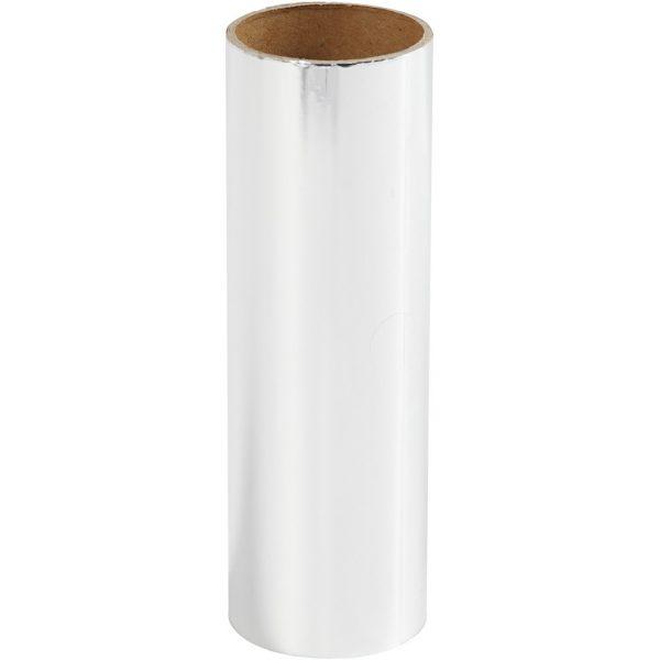 Hobbyfun Decoratiefolie, zilver, rol15,5x50cm