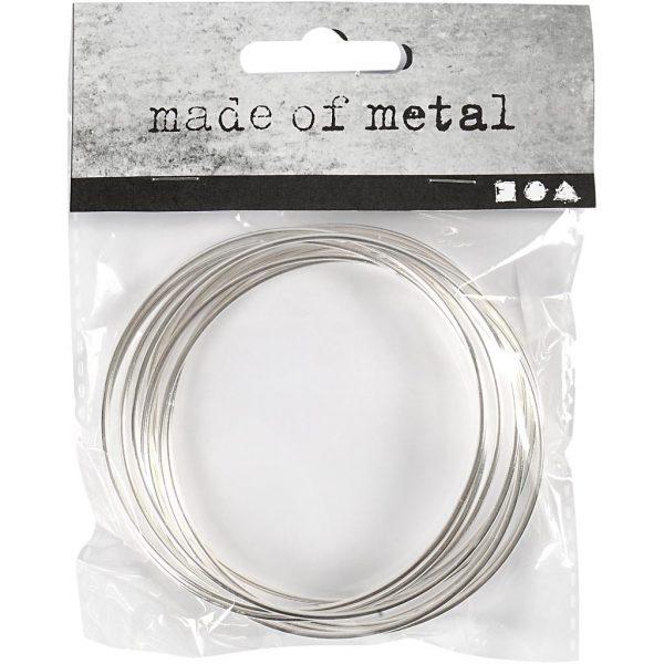 Hobbyfun Metalen draadring, d:7cm, zilver