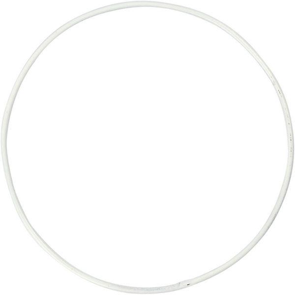 Hobbyfun Metalen draadring, d:10cm, wit