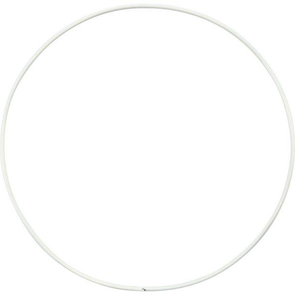 Hobbyfun Metalen draadring, d:15cm, wit