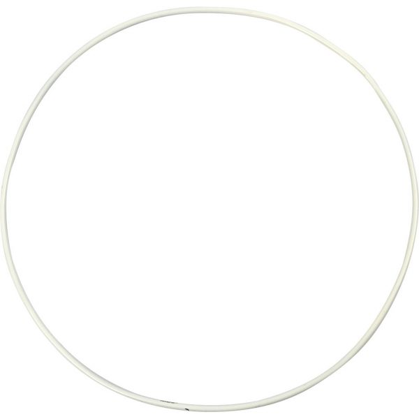 Hobbyfun Metalen draadring, d:20cm, wit