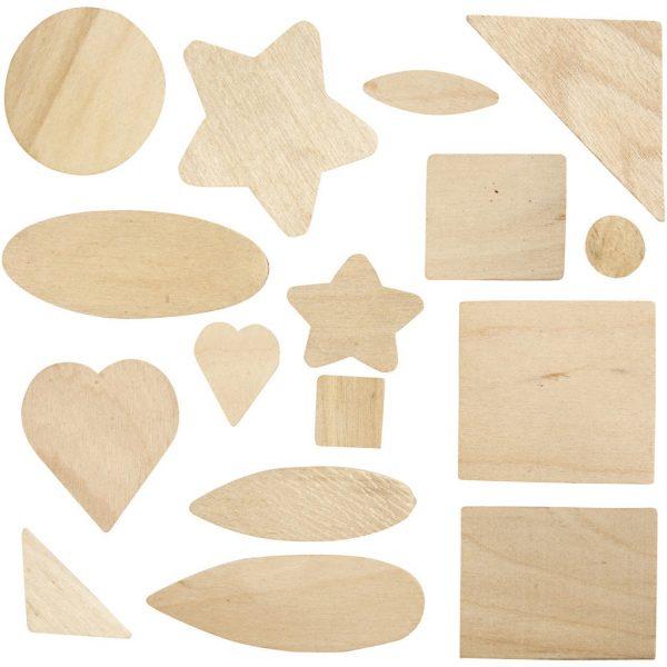 Hobbyfun Mozaïek hout, afm.1,3-5,5 cm.