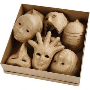 Hobbyfun Maskers, 12-21 cm, 60st.