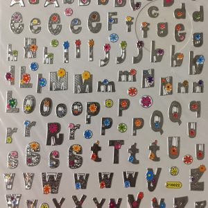 Hobbyfun Fancy stickers, Alfabet 5